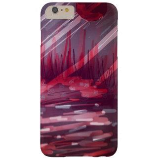 赤い背景および非常に…ある意味では光沢がある BARELY THERE iPhone 6 PLUS ケース