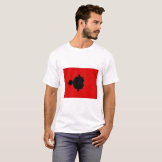 赤い背景のMandelbrotのフラクタルのTシャツ Tシャツ