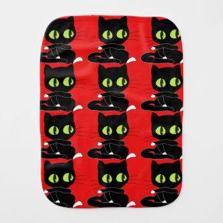 赤い背景を持つ黒猫 バープクロス