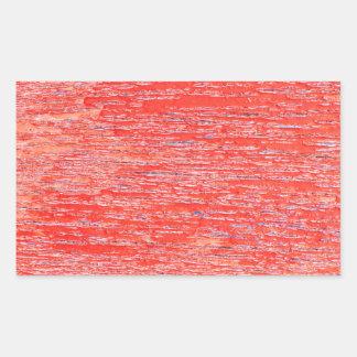 赤い背景 長方形シール