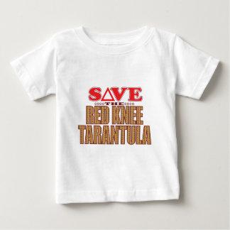 赤い膝のタランチュラの保存 ベビーTシャツ