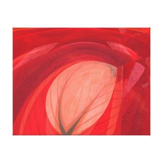 赤い自然 キャンバスプリント