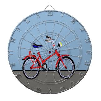 赤い自転車および道の一流のカスタマイズ可能 ダーツボード