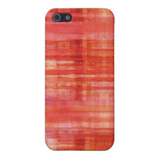 赤い色の芸術パターン iPhone 5 CASE