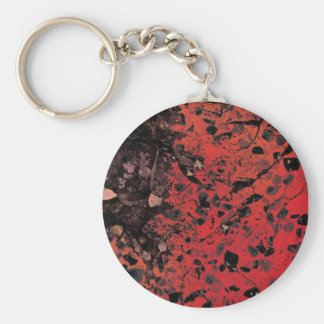 赤い花こう岩Keychain キーホルダー