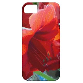 赤い花のアマリリス iPhone SE/5/5s ケース
