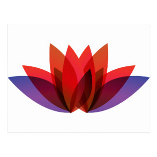 赤い花のデザイン ポストカード