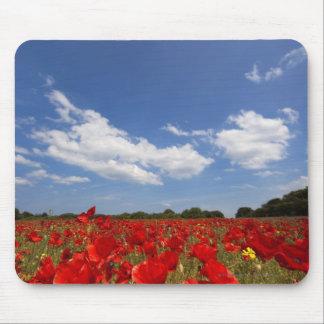 赤い花の十分の分野 マウスパッド