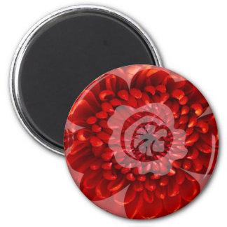 赤い花の旅行-ファンタジーの崇拝の世界 マグネット