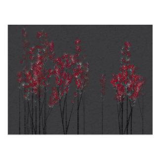 赤い花の森林郵便はがき ポストカード