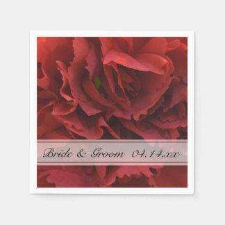 赤い花の結婚式 スタンダードカクテルナプキン