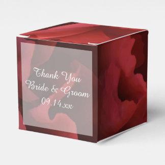 赤い花の結婚式 フェイバーボックス
