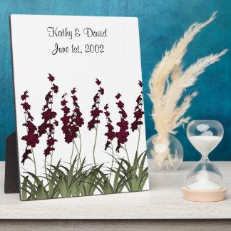 赤い花の結婚 フォトプラーク
