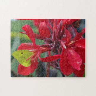 赤い花の緑の蝶 ジグソーパズル