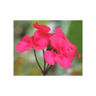 赤い花の花びら キャンバスプリント