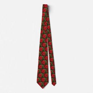 赤い花の首のタイ ネクタイ