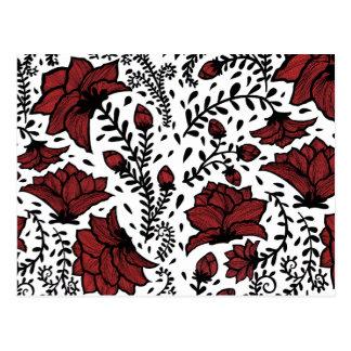 赤い花園 ポストカード