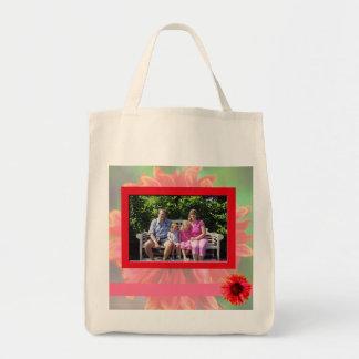 赤い花屋のバッグ トートバッグ