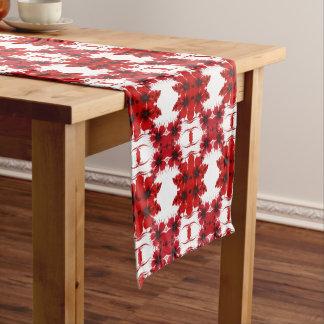 赤い花柄 ミディアムテーブルランナー