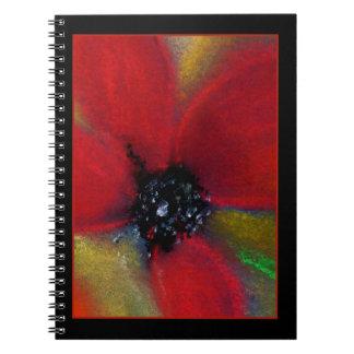 赤い花、ケシ ノートブック