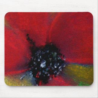 赤い花、ケシ マウスパッド