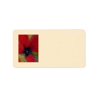 赤い花、ケシ ラベル