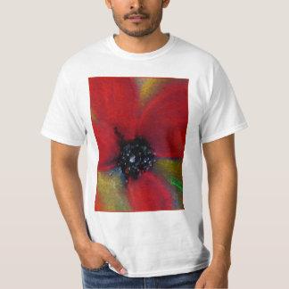 赤い花、ケシ Tシャツ
