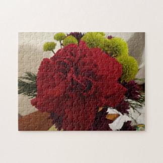 赤い花 ジグソーパズル