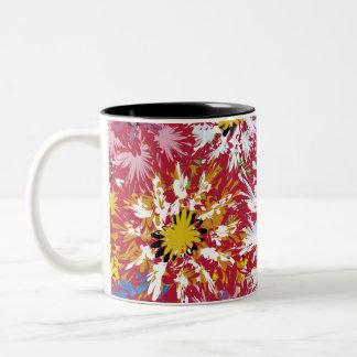赤い花 ツートーンマグカップ