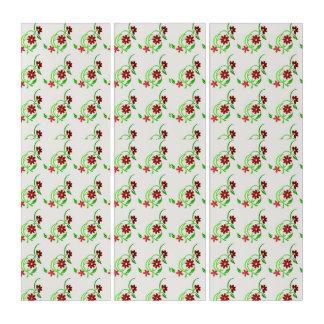 赤い花 トリプティカ
