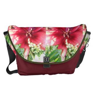 赤い花 メッセンジャーバッグ