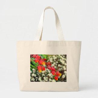 赤い花 ラージトートバッグ