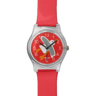 赤い芸術の腕時計: ジョンのダイアーのコーニッシュのカモメ 腕時計