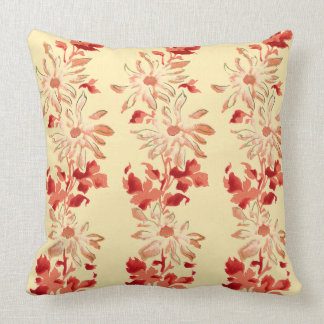 赤い菊の日本人の花 クッション