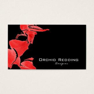 赤い蘭のエキゾチックな花屋の結婚式 名刺