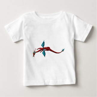 赤い蛇のドラゴン ベビーTシャツ
