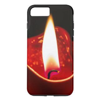 赤い蝋燭のiPhone 7の電話箱 iPhone 8 Plus/7 Plusケース
