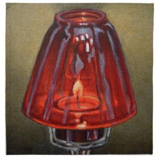 赤い蝋燭 布製ナプキン
