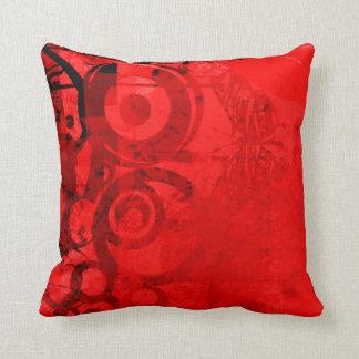 赤い蝶レトロのグランジなプリントの装飾用クッション クッション