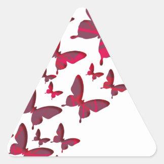 赤い蝶切り出し 三角形シール