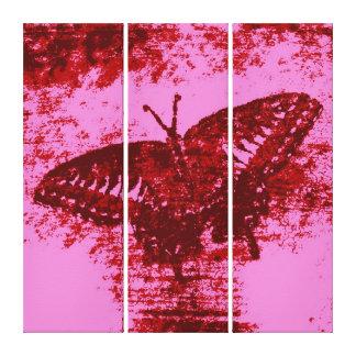 赤い蝶絵画の芸術Monet キャンバスプリント
