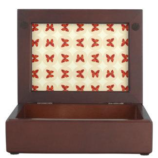 赤い蝶 ジュエリーボックス