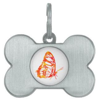 赤い蝶 ペットネームタグ