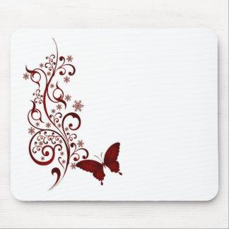 赤い蝶 マウスパッド