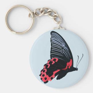 赤い蝶Keychain -青 キーホルダー
