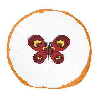 赤い蝶Poufの枕 プーフ