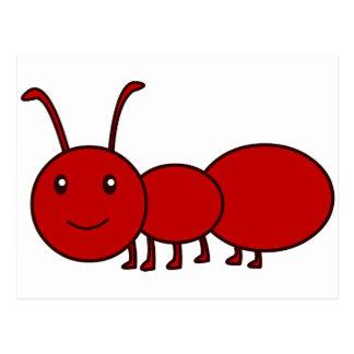 赤い蟻 ポストカード