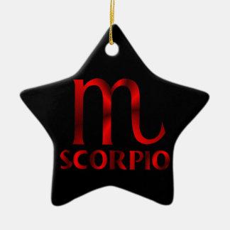 赤い蠍座の占星術の記号 セラミックオーナメント