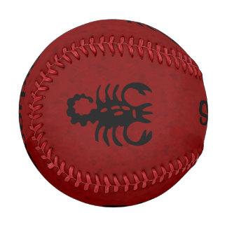 赤い蠍座の(占星術の)十二宮図 野球ボール