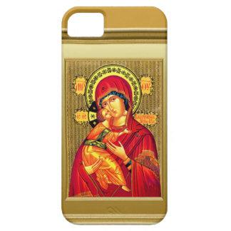 赤い衣服の聖母マリアおよび子供イエス・キリスト iPhone SE/5/5s ケース